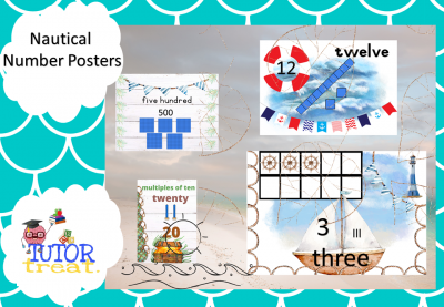 Nautical number posters